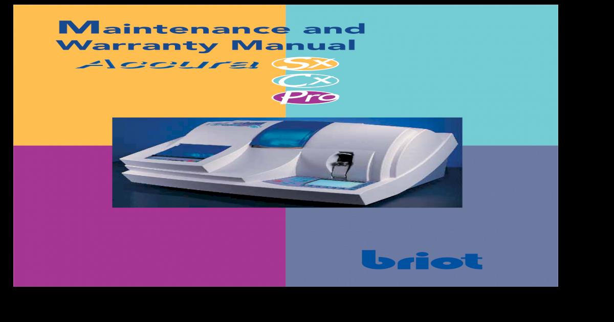 briot accura manual