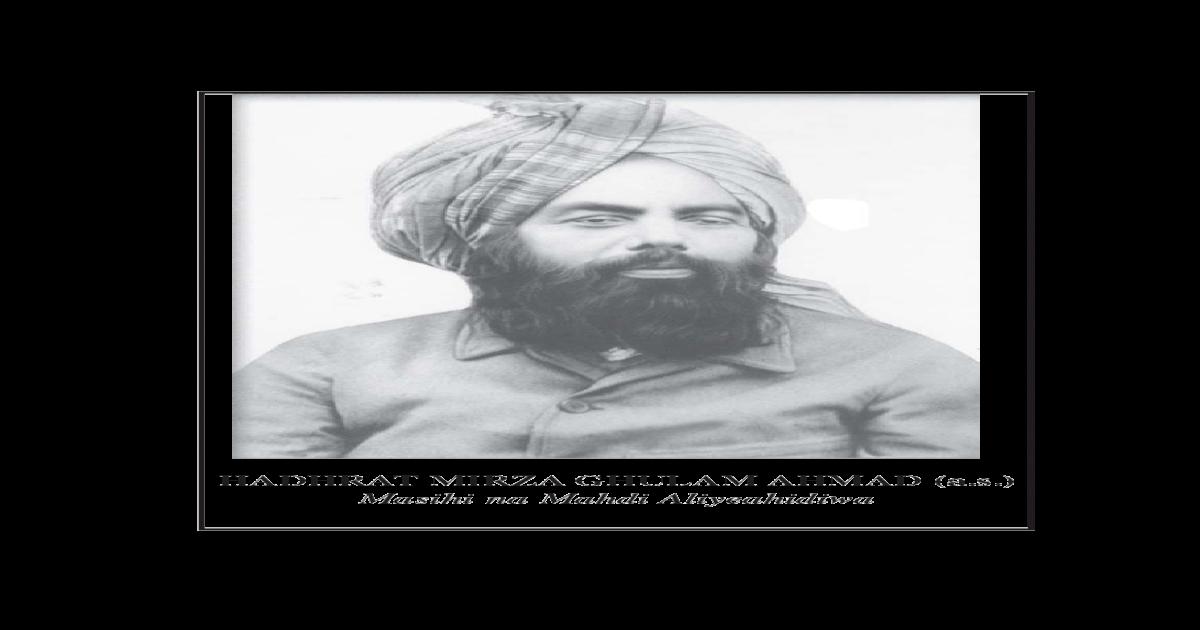 Baadhi ya Maandiko ya Hadhrat Ahmad - [PDF Document]