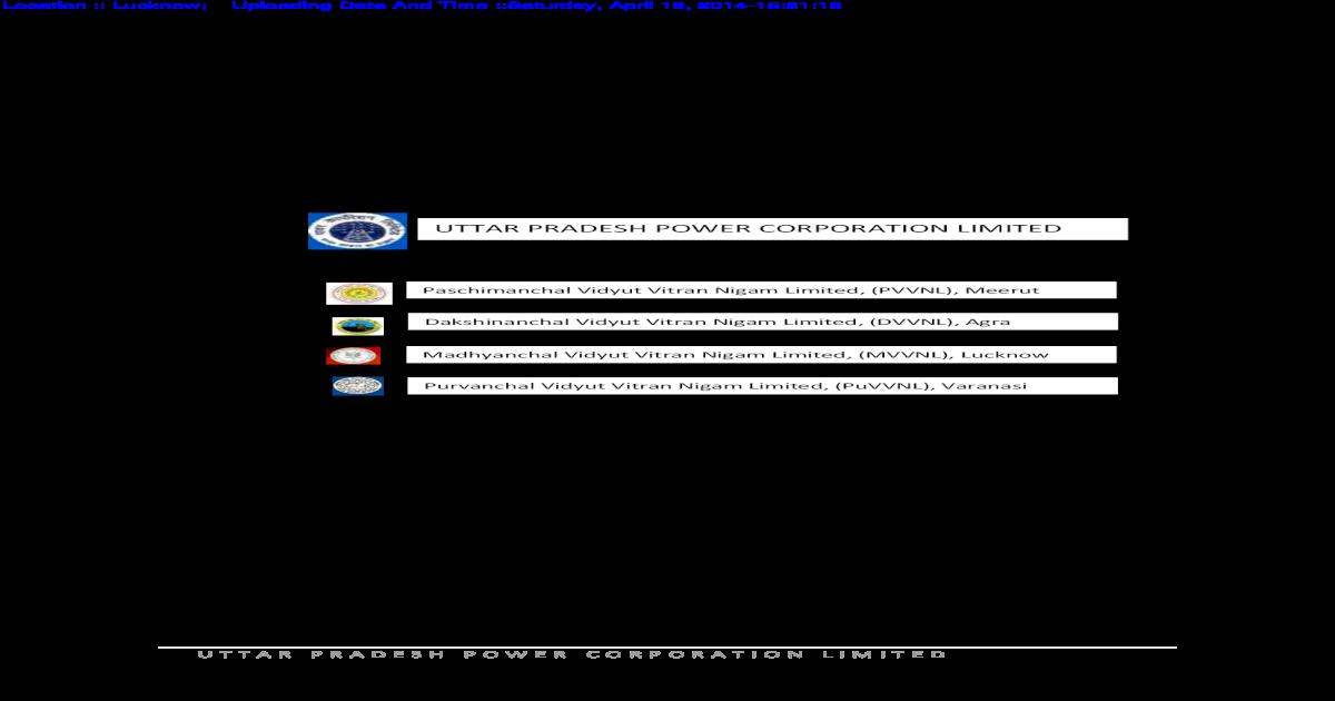 UTTAR PRADESH POWER CORPORATION LIMITED apps  and managing