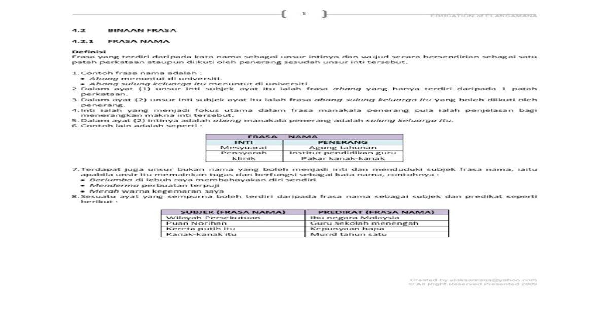 Binaan Frasa Pdf Document