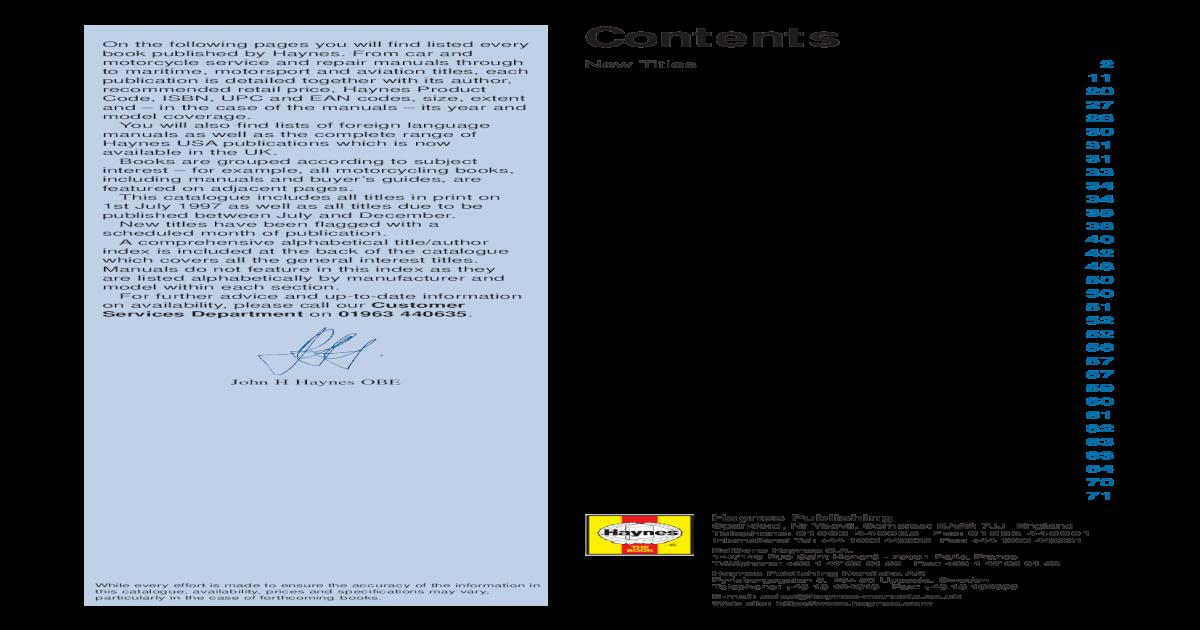 22303428 Car Service and Repair Manuals - [PDF Document]
