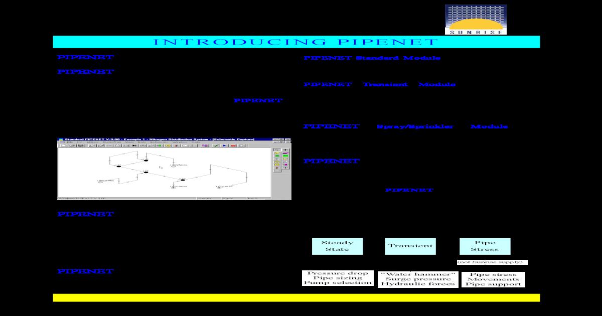 PIPENET Sunrise pdf - [PDF Document]