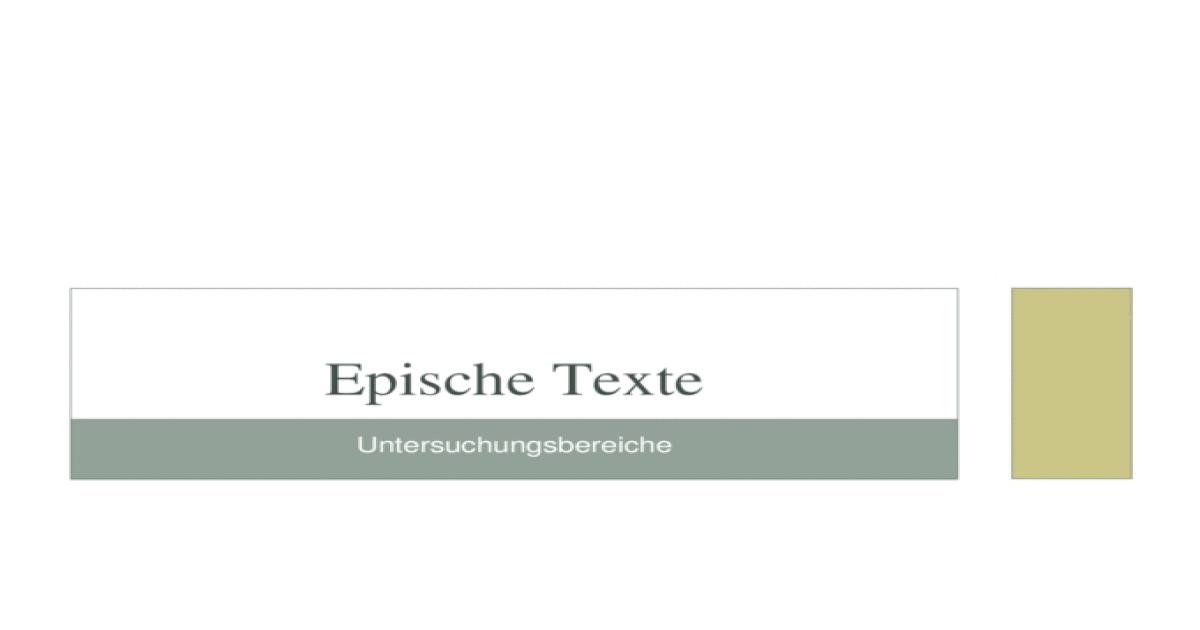epische texte