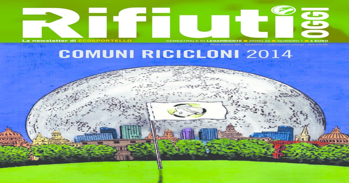 Calendario Coinger 2020.Dossier Comuni Ricicloni 2014 Pdf Document