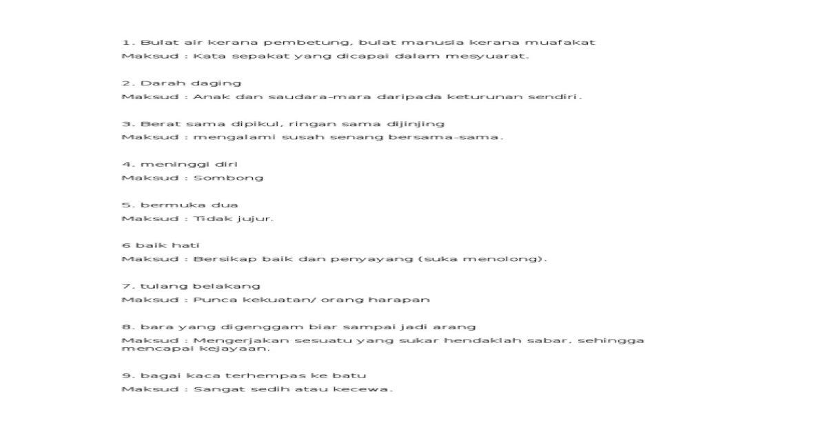 Peribahasa 4 5 Rtf Pdf Document