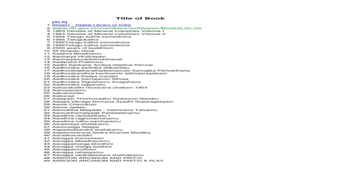 telugu book list - [PDF Document]