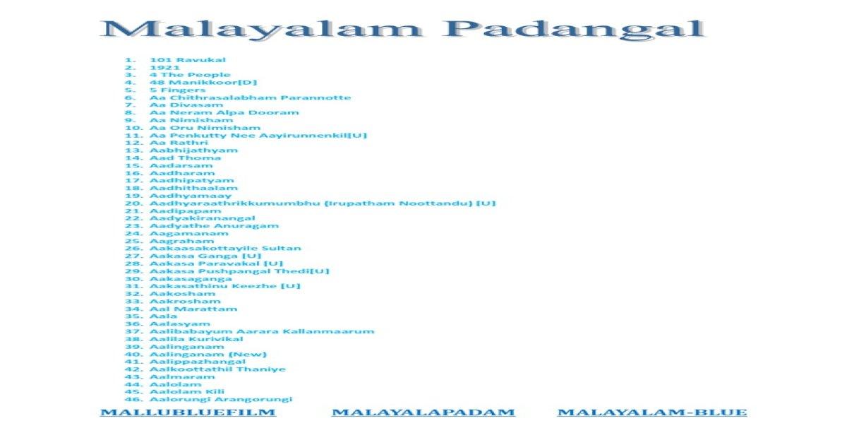 Malayalam+Movie+Complete+List_A-Z_newww - [PDF Document]