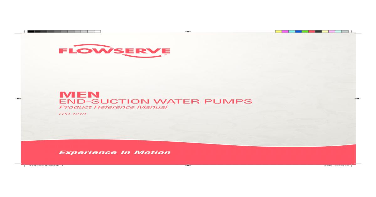 Flowserve MEN End-Suction Water Pumps Product - MEN End