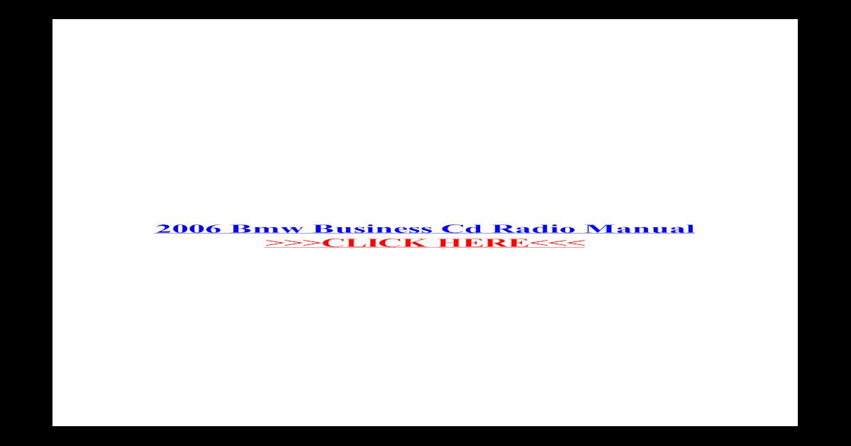 BMW E46 Business CD Radio HANDBOOK MANUALE LIBRETTO DI GUIDA 01410155807