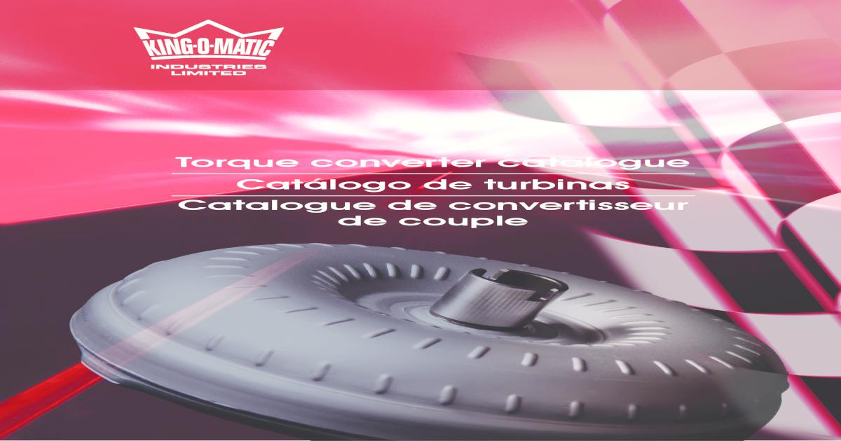 FM64Q-E4OD 4R100 TORQUE CONVERTER FORD DIESEL 6 STUD LOW STALL SINGLE DISC STOCK