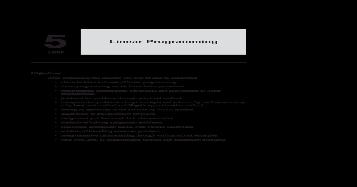 Linear Programming - [PDF Document]